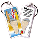 Cocoa Beach, FL FootWhere® Souvenir Keychain. Made in USA-FootWhere® Souvenirs