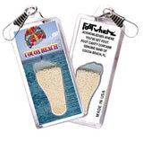 Cocoa Beach, FL FootWhere® Souvenir Zipper-Pull. Made in USA-FootWhere® Souvenirs