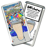 Cocoa Beach FootWhere® Souvenir Fridge Magnet. Made in USA-FootWhere® Souvenirs