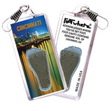 Cincinnati FootWhere® Souvenir Zipper-Pulls. 6 Piece Set. Made in USA-FootWhere® Souvenirs