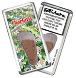 Charlotte FootWhere® Souvenir Fridge Magnets. 6 Piece Set. Made in USA - FootWhere® Souvenirs