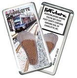 Charlotte FootWhere® Souvenir Magnet. Made in USA-FootWhere® Souvenirs