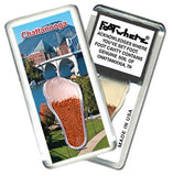 Chattanooga FootWhere® Souvenir Magnet. Made in USA - FootWhere® Souvenirs