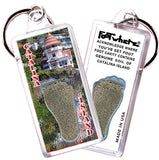 Catalina Island FootWhere® Souvenir Keychains. 6 Piece Set. Made in USA-FootWhere® Souvenirs
