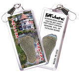 Catalina Island FootWhere® Souvenir Zipper-Pull. Made in USA-FootWhere® Souvenirs