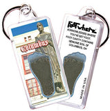 Columbus, OH FootWhere® Souvenir Keychain. Made in USA-FootWhere® Souvenirs