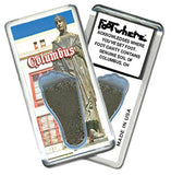 Columbus,OH FootWhere® Souvenir Fridge Magnet. Made in USA-FootWhere® Souvenirs