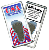 Columbus FootWhere® Souvenir Fridge Magnets. 6 Piece Set. Made in USA-FootWhere® Souvenirs