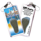 Columbus, OH FootWhere® Souvenir Zipper-Pull. Made in USA-FootWhere® Souvenirs