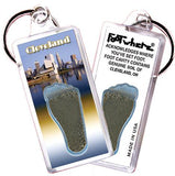 Cleveland FootWhere® Souvenir Keychain. Made in USA-FootWhere® Souvenirs