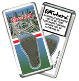 Cleveland FootWhere® Souvenir Fridge Magnet. Made in USA-FootWhere® Souvenirs