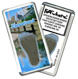 Cleveland FootWhere® Souvenir Fridge Magnets. 6 Piece Set. Made in USA-FootWhere® Souvenirs