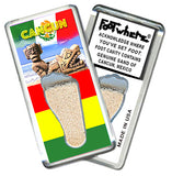 Cancun FootWhere® Souvenir Fridge Magnets. 6 Piece Set. Made in USA-FootWhere® Souvenirs