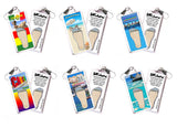 Cancun FootWhere® Souvenir Zipper-Pulls. 6 Piece Set. Made in USA-FootWhere® Souvenirs