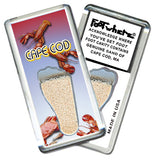 Cape Cod FootWhere® Fridge Magnets. 6 Piece Set. Made in USA-FootWhere® Souvenirs