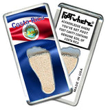 Costa Rica FootWhere® Souvenir Fridge Magnet. Made in USA-FootWhere® Souvenirs