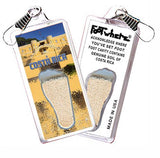 Costa Rica FootWhere® Souvenir Lanyard. Made in USA - FootWhere® Souvenirs