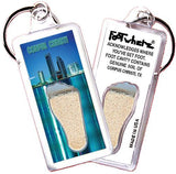 Corpus Christi FootWhere® Souvenir Key Chain. Made in USA-FootWhere® Souvenirs