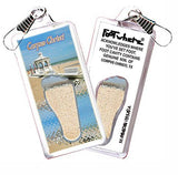Corpus Christi FootWhere® Souvenir Zipper-Pull. Made in USA-FootWhere® Souvenirs