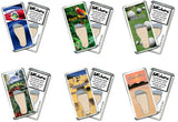 Costa Rica FootWhere® Souvenir Fridge Magnets. 6 Piece Set. Made in USA-FootWhere® Souvenirs