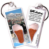 Colorado Springs FootWhere® Souvenir Keychain. Made in USA-FootWhere® Souvenirs
