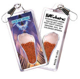 Colorado Springs FootWhere® Souvenir Zipper-Pull. Made in USA-FootWhere® Souvenirs