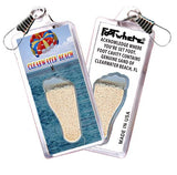 Clearwater FootWhere® Souvenir Zipper-Pull. Made in USA-FootWhere® Souvenirs