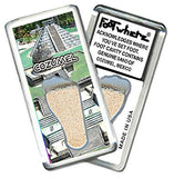 Cozumel FootWhere® Souvenir Fridge Magnets. 6 Piece Set. Made in USA-FootWhere® Souvenirs