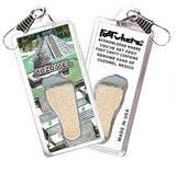 Cozumel FootWhere® Souvenir Zipper-Pull. Made in USA-FootWhere® Souvenirs