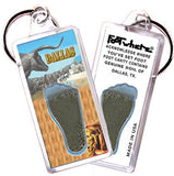 Dallas FootWhere® Souvenir Keychain. Made in USA-FootWhere® Souvenirs