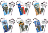 Dallas FootWhere® Souvenir Fridge Keychains. 6 Piece Set. Made in USA-FootWhere® Souvenirs
