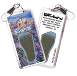 Detroit FootWhere® Souvenir Zipper-Pulls. 6 Piece Set. Made in USA-FootWhere® Souvenirs