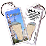 Dubai, UAE FootWhere® Souvenir Keychain. Made in USA - FootWhere® Souvenirs
