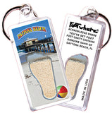 Daytona Beach FootWhere® Souvenir Keychains 6 Piece Set. Made in USA-FootWhere® Souvenirs