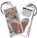El Paso FootWhere® Souvenir Keychains. 6 Piece Set. Made in USA-FootWhere® Souvenirs