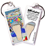 Fort Myers, FL FootWhere® Souvenir Keychain. Made in USA-FootWhere® Souvenirs