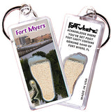 Fort Myers FootWhere® Souvenir Keychains. 6 Piece Set. Made in USA-FootWhere® Souvenirs