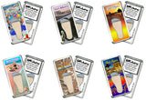 Fort Myers FootWhere® Souvenir Fridge Magnets. 6 Piece Set. Made in USA-FootWhere® Souvenirs