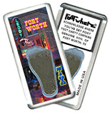 Fort Worth FootWhere® Souvenir Fridge Magnets. 6 Piece Set. Made in USA-FootWhere® Souvenirs