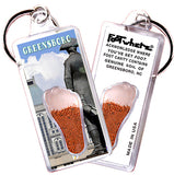 Greensboro FootWhere® Souvenir Keychains. 6 Piece Set. Made in USA-FootWhere® Souvenirs