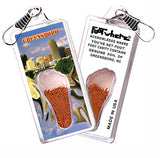 Greensboro, NC FootWhere® Souvenir Zipper-Pull. Made in USA-FootWhere® Souvenirs