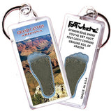 Grand Canyon, AZ FootWhere® Souvenir Keychain. Made in USA-FootWhere® Souvenirs