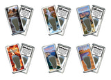 Grand Canyon FootWhere® Souvenir Fridge Magnets. 6 Piece Set. Made in USA-FootWhere® Souvenirs