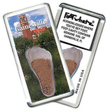 Gainesville, FL FootWhere® Souvenir Fridge Magnet. Made in USA-FootWhere® Souvenirs