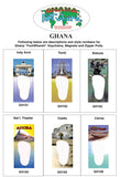 Ghana FootWhere® Souvenir Zipper-Pull. Made in USA - FootWhere® Souvenirs