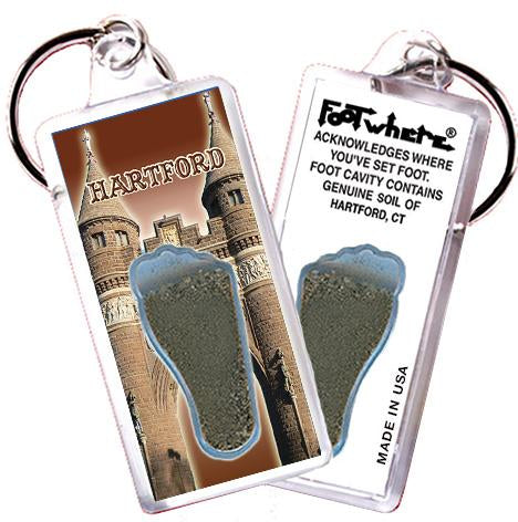 Hartford FootWhere® Souvenir Keychain. Made in USA - FootWhere® Souvenirs