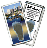 Hartford FootWhere® Souvenir Fridge Magnets. 6 Piece Set. Made in USA
