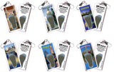 Hartford FootWhere® Souvenir Zipper-Pulls. 6 Piece Set. Made in USA