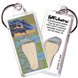 Hilton Head FootWhere® Souvenir Keychain. Made in USA-FootWhere® Souvenirs