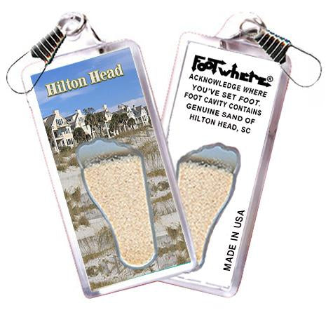 Hilton Head FootWhere® Souvenir Zipper-Pull. Made in USA-FootWhere® Souvenirs